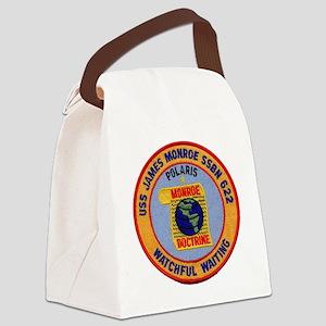 uss james monroe patch transparen Canvas Lunch Bag