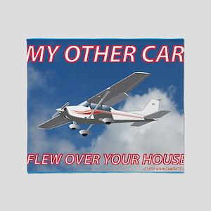 My Other Car- Cessna Throw Blanket