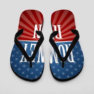 button Stars Stripes Romney Ryan Flip Flops