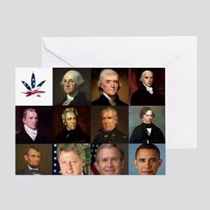 Presidential Potheads Greeting Card