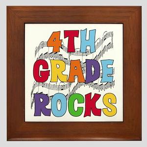 Bright Colors 4th Grade Framed Tile
