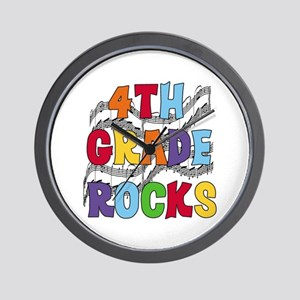 Bright Colors 4th Grade Wall Clock
