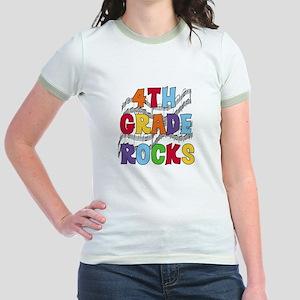 Bright Colors 4th Grade Jr. Ringer T-Shirt