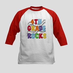 Bright Colors 4th Grade Kids Baseball Jersey