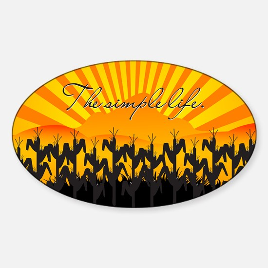 the simple life trailer hitch graph Sticker (Oval)