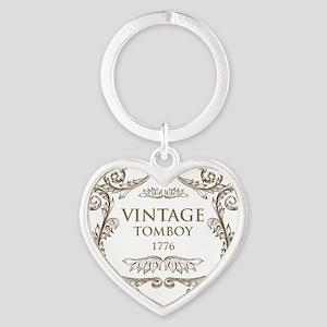 Vintage Tomboy 1776 Heart Keychain