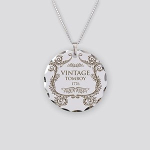 Vintage Tomboy 1776 Necklace Circle Charm