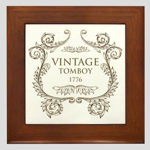 Vintage Tomboy 1776 Framed Tile