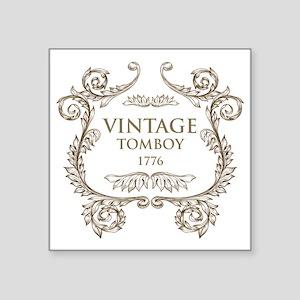 "Vintage Tomboy 1776 Square Sticker 3"" x 3"""