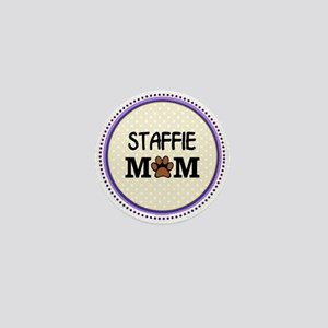 Staffie Dog Mom Mini Button