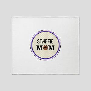Staffie Dog Mom Throw Blanket