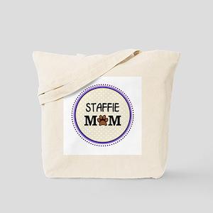Staffie Dog Mom Tote Bag