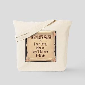 PilotsPrayerFuoLuggHandleWrap Tote Bag