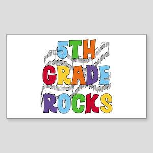 Bright Colors 5th Grade Rectangle Sticker