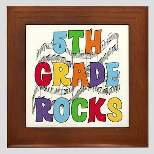 Bright Colors 5th Grade Framed Tile