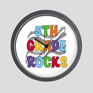 Bright Colors 5th Grade Wall Clock