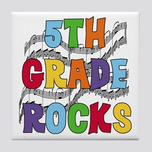 Bright Colors 5th Grade Tile Coaster