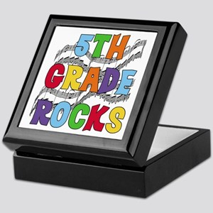 Bright Colors 5th Grade Keepsake Box