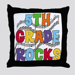 Bright Colors 5th Grade Throw Pillow