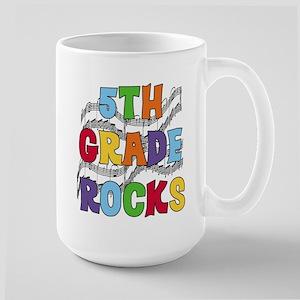 Bright Colors 5th Grade Large Mug