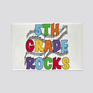 Bright Colors 5th Grade Rectangle Magnet