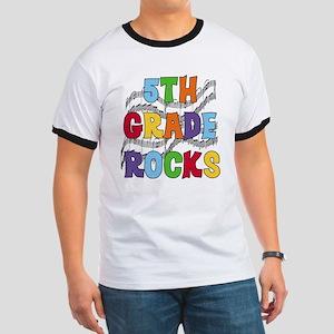 Bright Colors 5th Grade Ringer T