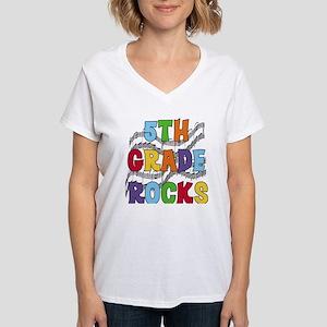 Bright Colors 5th Grade Women's V-Neck T-Shirt