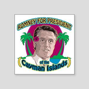 "Romney Cayman Islands Square Sticker 3"" x 3"""