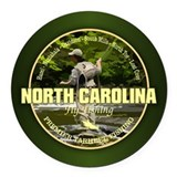 Asheville north carolina Round Car Magnets