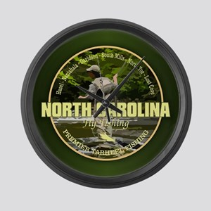North Carolina Fly Fishing Large Wall Clock