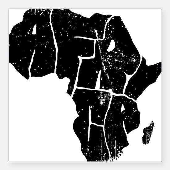 "Africa Undivided Square Car Magnet 3"" x 3"""