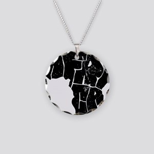 Africa Undivided Necklace Circle Charm