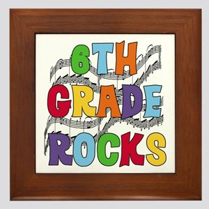 Bright Colors 6th Grade Framed Tile