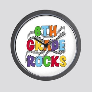 Bright Colors 6th Grade Wall Clock