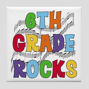 Bright Colors 6th Grade Tile Coaster