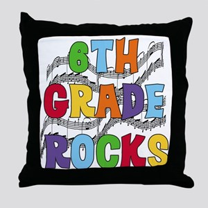 Bright Colors 6th Grade Throw Pillow