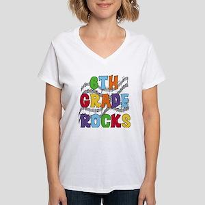 Bright Colors 6th Grade Women's V-Neck T-Shirt