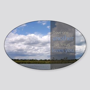 LDS Quotes- Love one another as Jes Sticker (Oval)