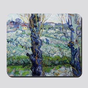 Van Gogh Flowering Orchards Mousepad