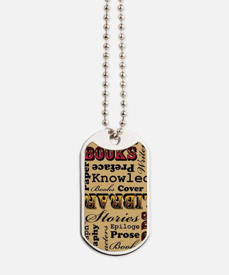 Books Books Books Dog Tags