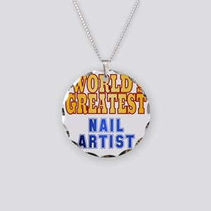 World's Greatest Nail Artist Necklace Circle Charm
