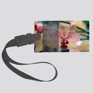LDS Quotes- The antidote for pri Large Luggage Tag