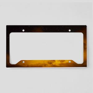 Lightening  Clouds License Plate Holder