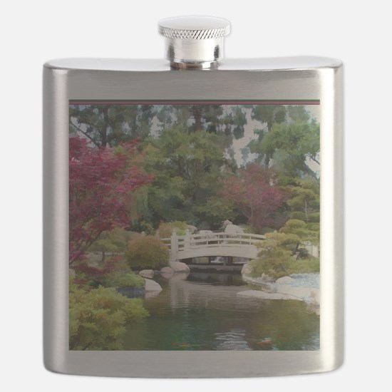 Japanese GArden and Bridge Flask