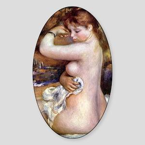Renoir After The Bath Sticker (Oval)