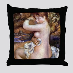 Renoir After The Bath Throw Pillow