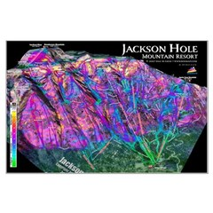 Jackson Hole 3dSkiMap Poster (large)