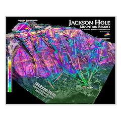 Jackson Hole 3dSkiMap Posters