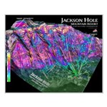 Jackson Hole 3dSkiMap Small Poster