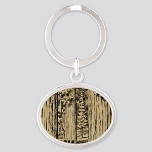 Vintage Sequoia National Park Oval Keychain